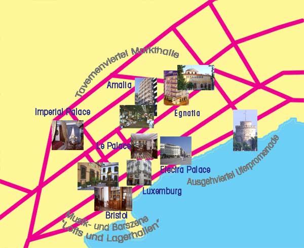Thessaloniki Karte.Das Hotel Bristol Liegt Im Historischen Viertel Ladakia Von Saloniki